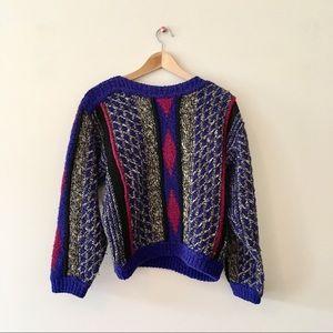 Intake 1980s winter sweater retro dolman small